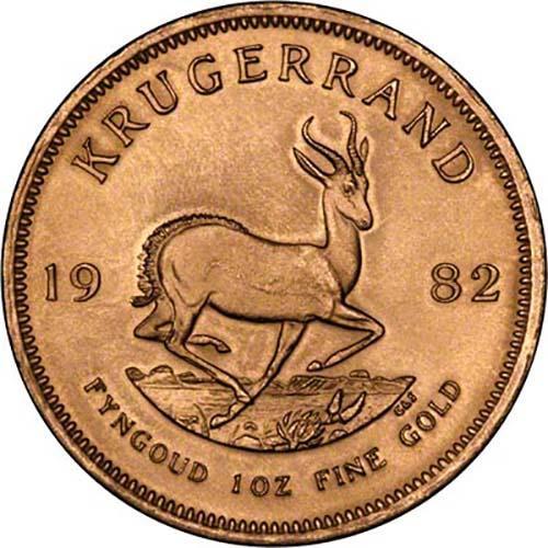 1982 1 oz Gold Coin Krugerrand Bullion 22330