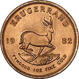 1982 1 oz Gold Coin Krugerrand Bullion 22330