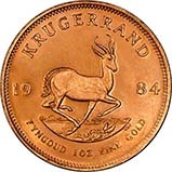 1984 1 oz Gold Coin Krugerrand Bullion 25004