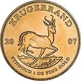 2007 1 oz Gold Coin Krugerrand Bullion 24853