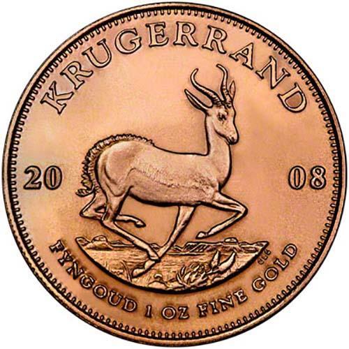 2008 1 oz Gold Coin Krugerrand Bullion 21481