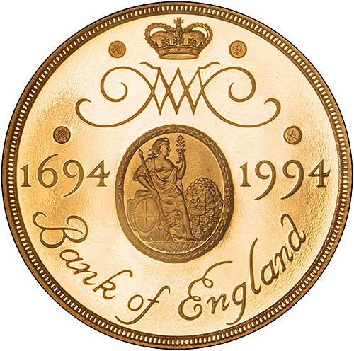 1994 UK Coin £2 Gold Proof Bank Of England Mule