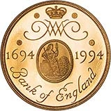 1994 UK Coin £2 Gold Proof Bank Of England Mule 22802