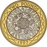 1997 UK Coin £2 Silver Proof Piedfort Bimetallic 25133