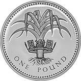 1985 UK Coin £1 Silver Proof Welsh Leek 25023