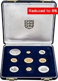 1972 Mixed Jersey Silver Wedding Proof Set - 9 Coins 24005