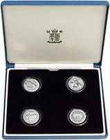 2003 Whole Coin Set UK £1 Pattern Set Silver Proof Bridges 22847