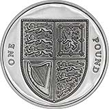 2009 UK Coin £1 Silver Proof Shield of Arms 24468