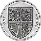 2008 UK Coin £1 Silver Proof Shield of Arms 22734