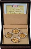 2004 - 2007 Whole Coin Set UK £1 - Four (4) Coins Gold Proof 24920