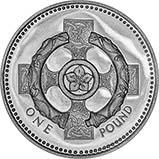 1996 UK Coin £1 Silver Proof Piedfort Celtic Cross 22684