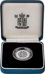 1997 UK Coin £1 Silver Proof Piedfort Three Lions 23315