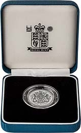 1998 UK Coin £1 Silver Proof Piedfort Royal Arms 24265