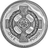 2001 UK Coin £1 Silver Proof Piedfort Celtic Cross 21107