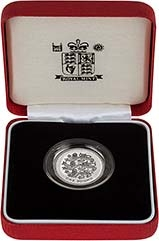 2002 UK Coin £1 Silver Proof Piedfort Three Lions 23326