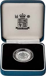 2003 UK Coin £1 Silver Proof Piedfort Royal Coat of Arms 22061