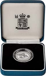 2004 UK Coin £1 Silver Proof Piedfort Forth Rail Bridge 22313