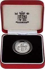 2005 UK Coin £1 Silver Proof Piedfort Menai Strait 23761