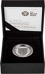2008 UK Coin £1 Silver Proof Piedfort Shield of Arms 24794