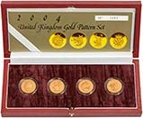 2004 Whole Coin Set UK £1 Pattern Set Gold Proof Beasts 23913