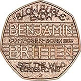 2013 UK Coin 50p Gold Proof 100th Anniversary Of The Birth Of Benjamin Britten 24017