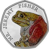 2017 UK Coin 50p Silver Proof Beatrix Potter - Mr Jeremy Fisher 24483