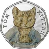 2017 UK Coin 50p Silver Proof Beatrix Potter - Tom Kitten 25177