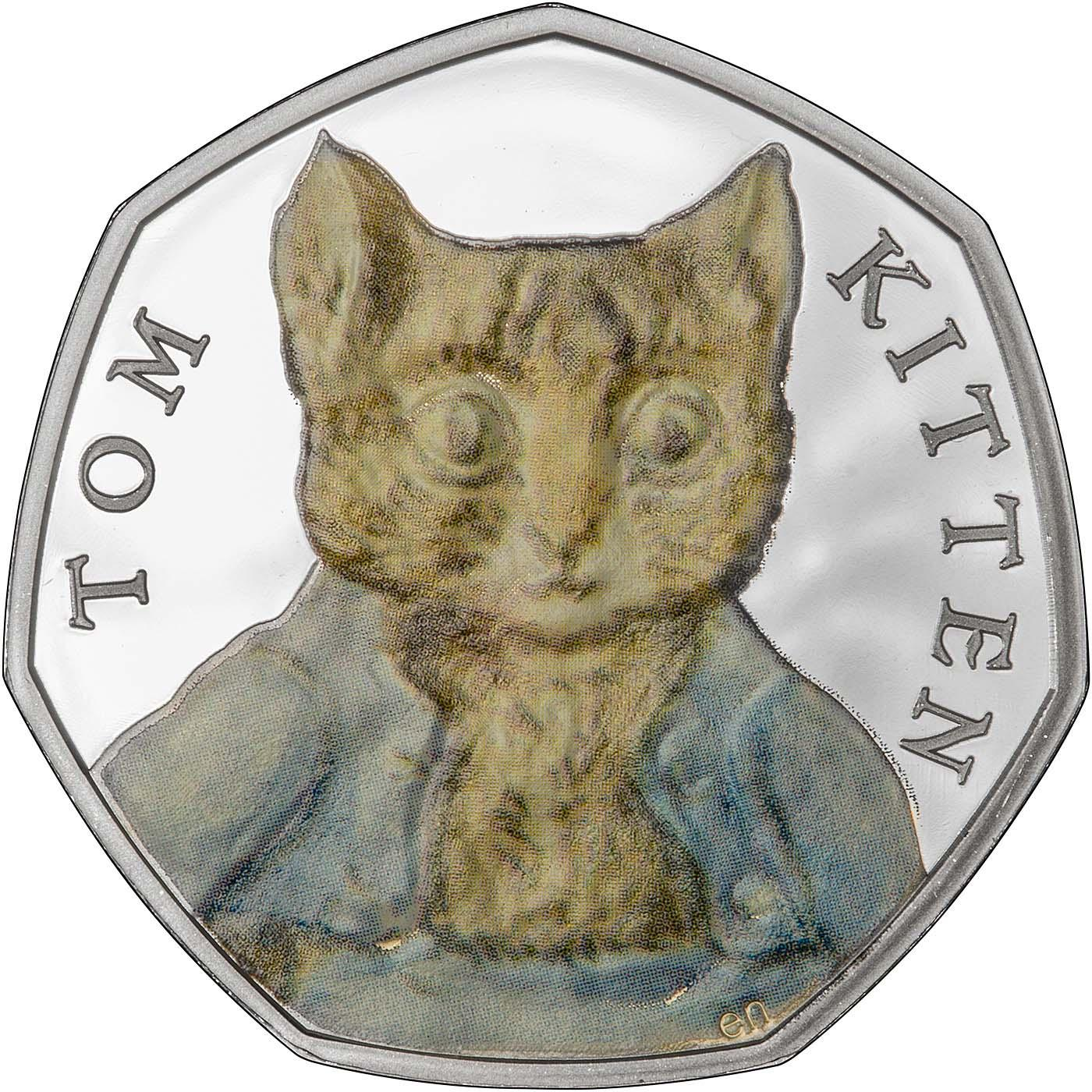 2017 Beatrix Potter Tom Kitten 50p Silver Proof Chards