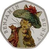 2017 UK Coin 50p Silver Proof Beatrix Potter - Benjamin Bunny 21748