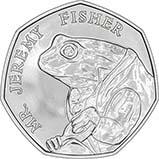 2017 UK Coin 50p BU Beatrix Potter - Mr Jeremy Fisher 22320
