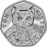 2017 UK Coin 50p BU Beatrix Potter - Tom Kitten 21915