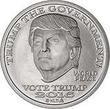 2016 1 oz Silver Round Trump BU Dollar 24478