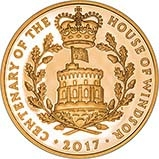 2017 UK Coin £5 / Crown Gold Proof House of Windsor 22045