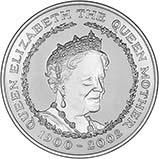 2002 UK Coin £5 / Crown Silver Proof Queen Mother Memorial 20446