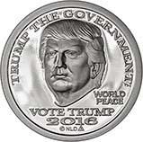 2016 1 oz Silver Round Trump Proof Dollar 21344