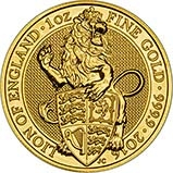 2016 1 oz Gold Coin Queen's Beasts  Bullion Lion 21521