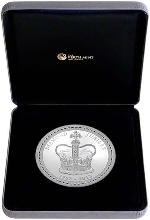 b0a32721a 2012 Silver Diamond Jubilee 1kg Proof Coin | Chard