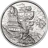 2 oz Silver Round Pirate Bullion Privateer 24363