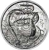 2 oz Silver Round Pirate Bullion Serpent 25093