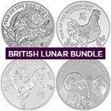 4 oz Silver Coin Bundle Royal Mint Lunar Bullion 23457