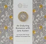 2017 UK Coin £2 BU Jane Austen 21224
