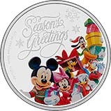 2015 0.5 oz Silver Coin Disney Season's Greetings 22902