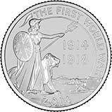 2014 UK Coin £20 BU Outbreak of WWI 21616