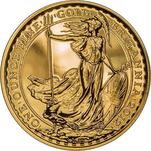 2012 Gold Britannia 1 Oz Bullion Coin Chards