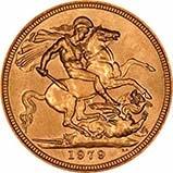 1979 Gold Sovereign Elizabeth II Proof w/o Box w/o Cert 20755