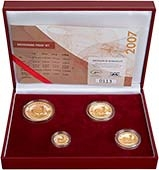 2007 Whole Coin Set South African - Four (4) Coins Grade C Gold Proof Krugerrand 20409