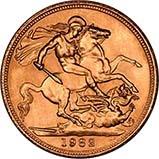 1982 Gold Full Sovereign Elizabeth II Proof w/o Box w/o Cert 21551
