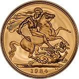 1984 Gold Sovereign Elizabeth II Proof w/o Box w/o Cert 20919