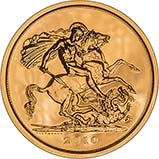 2010 UK Coin £5 / Crown Gold BU St. George & Dragon 23436