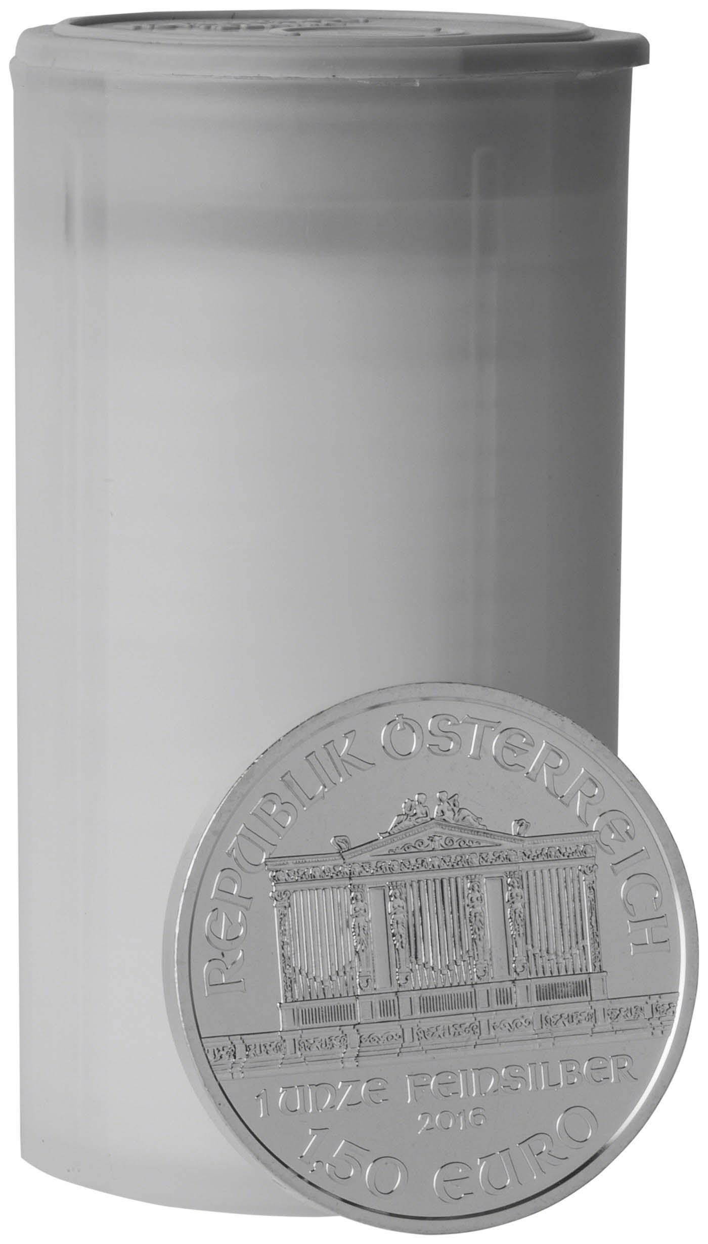 2020 Austria Mint 1 oz Silver BU Philharmonic Round Bullion Coin F//Mint Tube